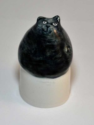 Black cat ceramic wine bottle stopper